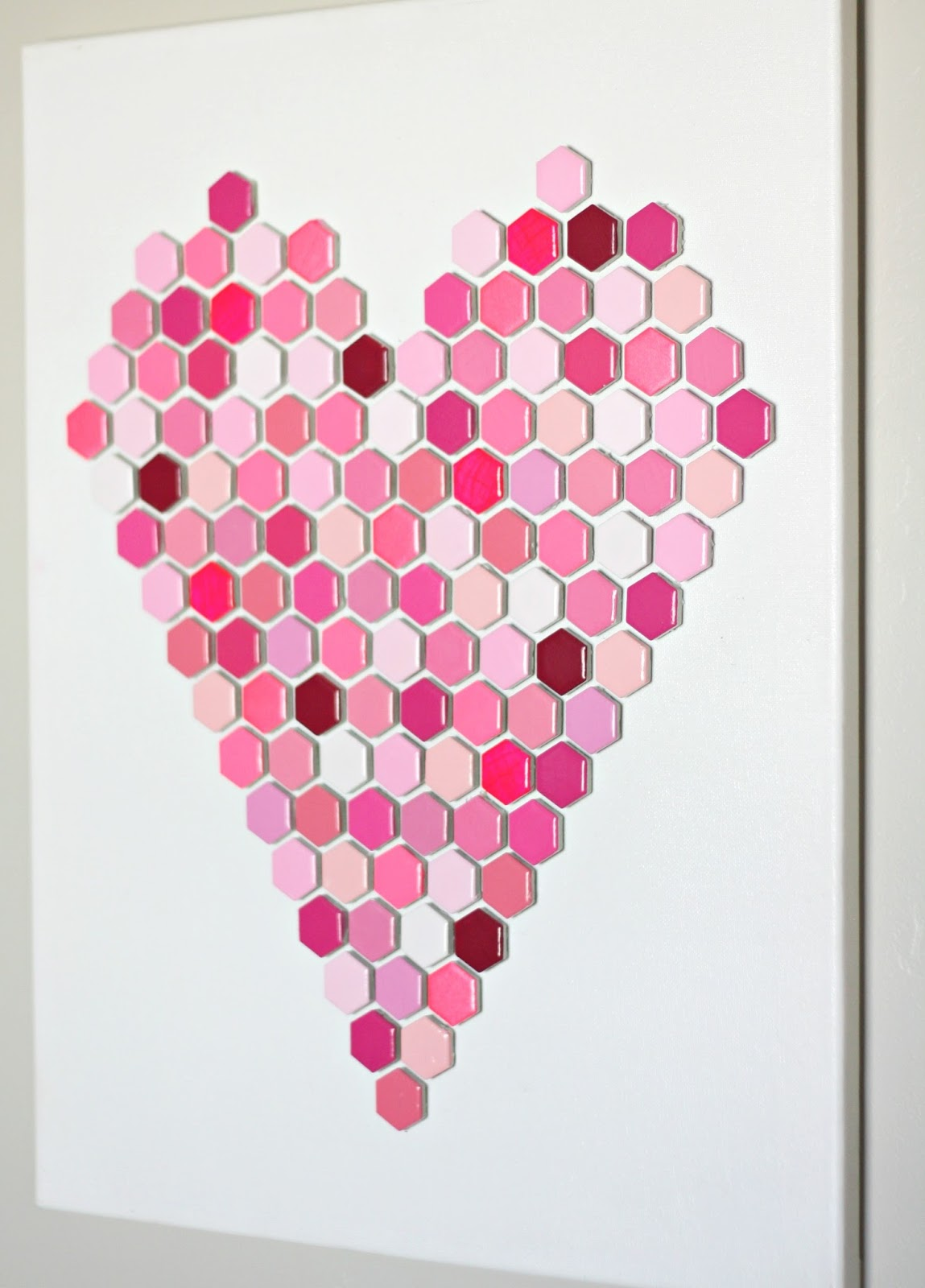 diy hexagon tile heart art 6