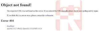 membuat pesan kesalahan error 404
