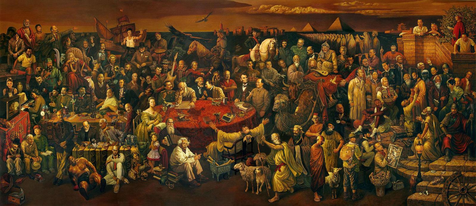 """""""สนทนาเรื่องสุขนาฏกรรมแห่งทวยเทพกับดานเต้"""" (Discussing the Divine Comedy With Dante, 与但丁讨论神曲)"""
