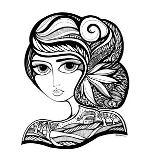 arte por Jody Pham | black and white drawings, cool stuff, pictures, deep feelings | imagenes chidas imaginativas bonitas, emociones y sentimientos