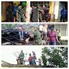 Rumah Kakek Arifin Terbakar, Babinsa Sigap Turun Padamkan Api