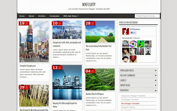 MXfluity Blogger Template