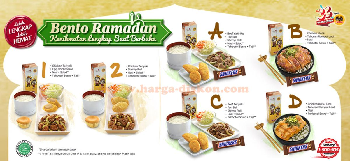 Harga-Diskon Menu HOKBEN Bento Ramadhan Free Tajil Mulai Rp43.000 | Harga Diskon Images may be subject to copyright. Learn More Related images