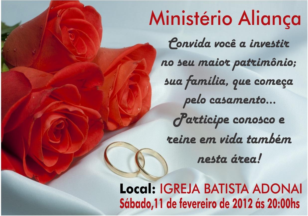 CASAIS ADONAI: Convite