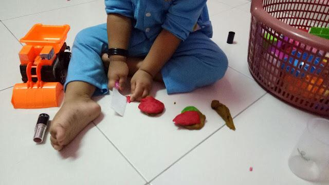 Buat Play doh guna Tepung Gandum