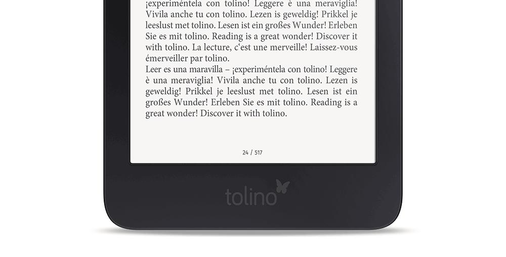 fragment czytnika e-booków Tolino Shine 3