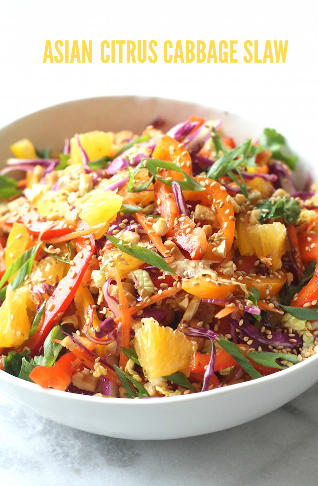 Asian Citrus Cabbage Slaw by SeasonWithSpice.com