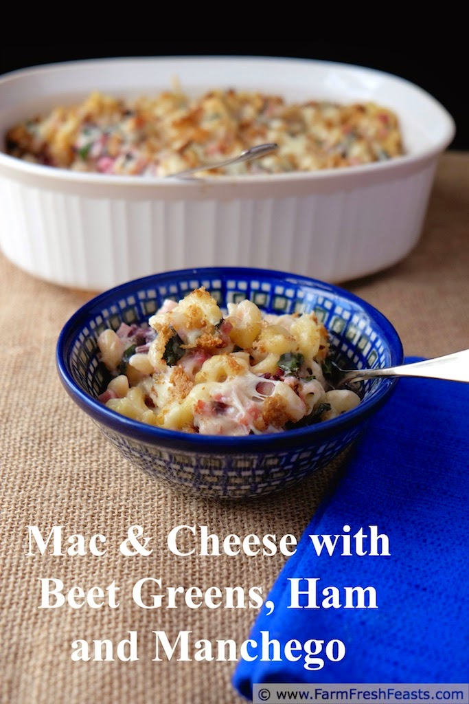 http://www.farmfreshfeasts.com/2014/10/macaroni-and-cheese-with-beet-greens.html