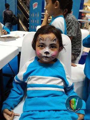 face painting kelinci imut