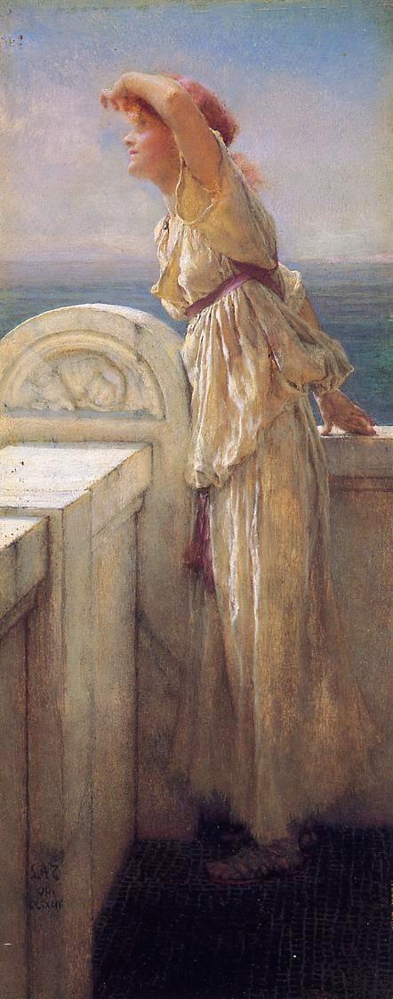 Esperançosa - As mais belas pinturas de Lawrence Alma-Tadema - (Neoclassicismo)