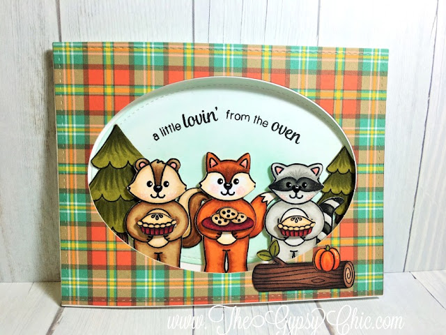 Sunny Studio Stamps: Woodsy Creatures Fall Card by Challenge Winner Stephanie Davis.