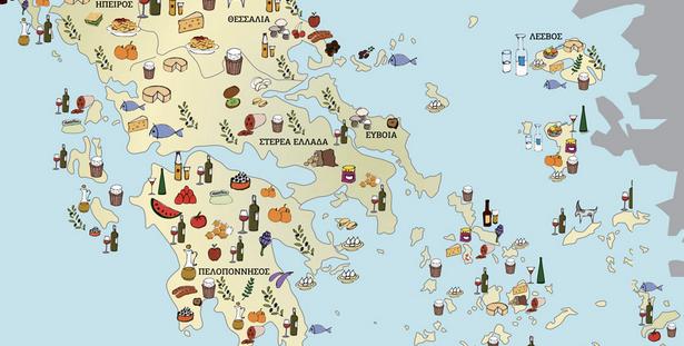 Αποτέλεσμα εικόνας για Τι παράγει η Ελλάδα χάρτης