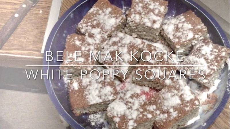 White Poppy Squares Recipe