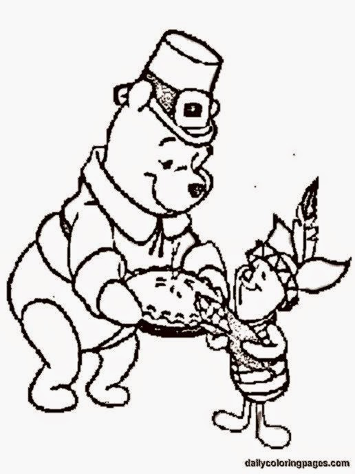 Coloring pictures for thanksgiving free coloring pictures for Winnie the pooh thanksgiving coloring pages