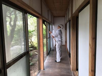 生坂村 ひとつ石 掃除の様子