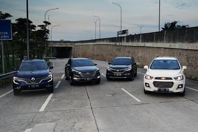 Perbandingan Honda CR-V vs Hyundai Tucson vs Chevrolet Captiva vs Renault Koleos