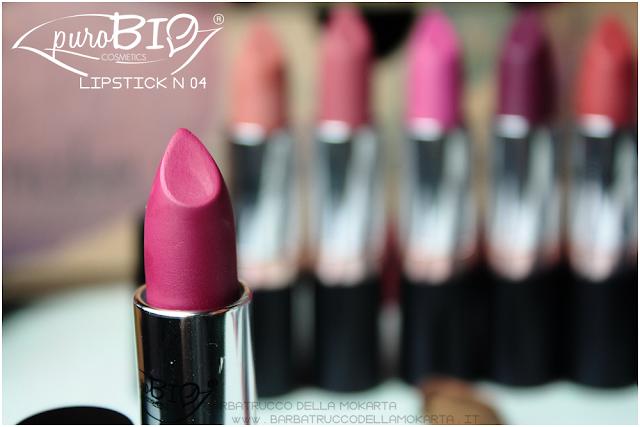 recensione,  lipstick n 04 ,  rossetti purobio , lipstick, vegan makeup, bio makeup