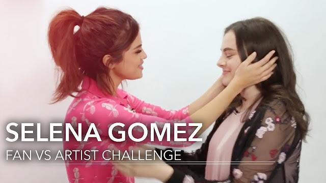 Selena Gomez and her big fan in iHeart Radio Show
