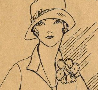The Vintage Pattern Files: Free 1920's Sewing Pattern - Accent Your Frock with Self-Fabric Flowers