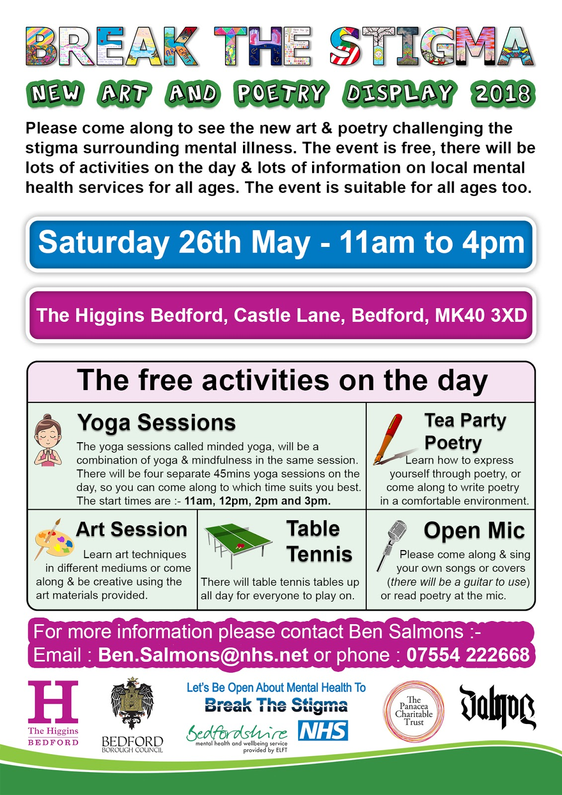 The Higgins Art Gallery Museum Bedford Break The Stigma Open Day