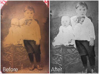 Leonard and Nina Testorff Restored Photo Tuesday Treasure