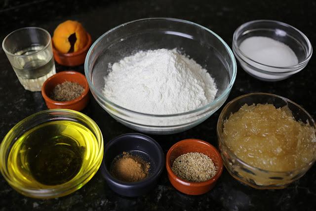 Ingredientes para pastel de cidra