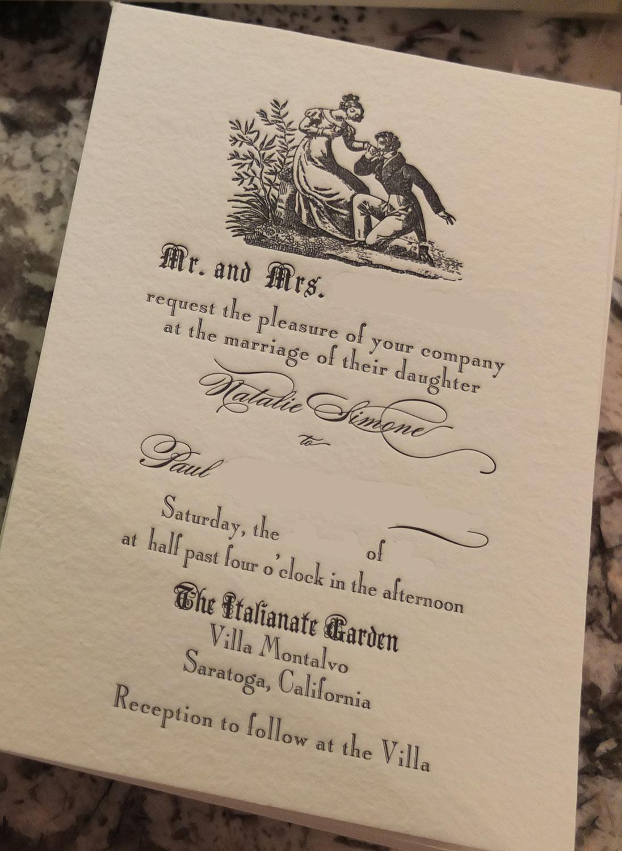 Antique Style Using Ephemera For Wedding Invitations