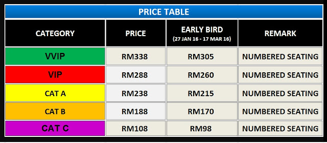 Josh Kua [ RELENTLESS . 信捷 ] Concert Malaysia 2016 ticket price starting from RM108