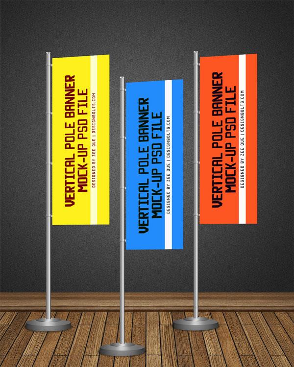 Vertical Banner Mock-up PSD
