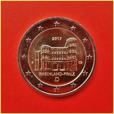 2 Euros Alemania 2017 - Renania Palatinado - Porta Nigra