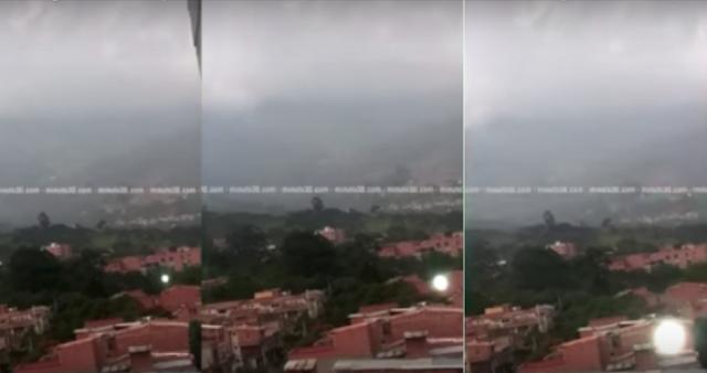 Esfera luminosa se lanza sobre la cámara de un turista en Colombia