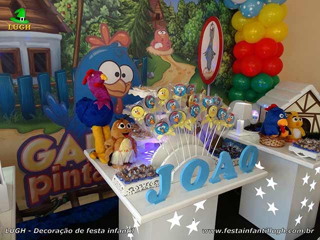 Decoração de aniversário infantil tema Galinha Pintadinha - mesa decorada de festa