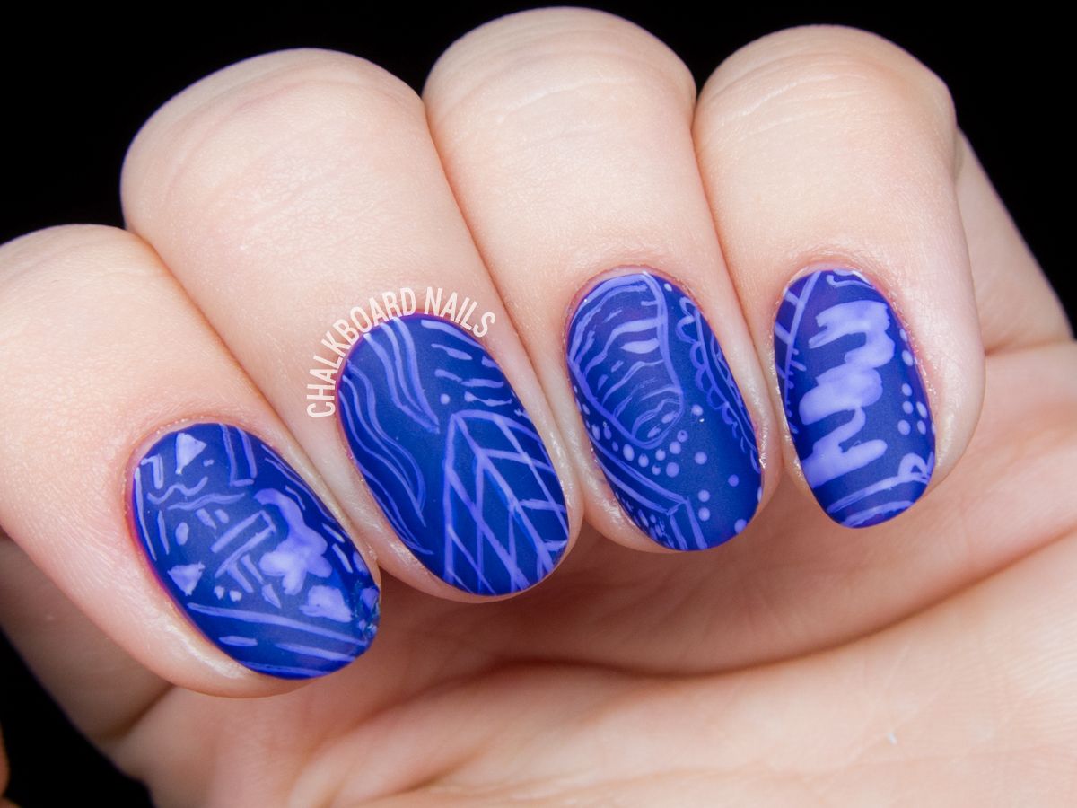 Zach Bootz inspired nail art by @chalkboardnails