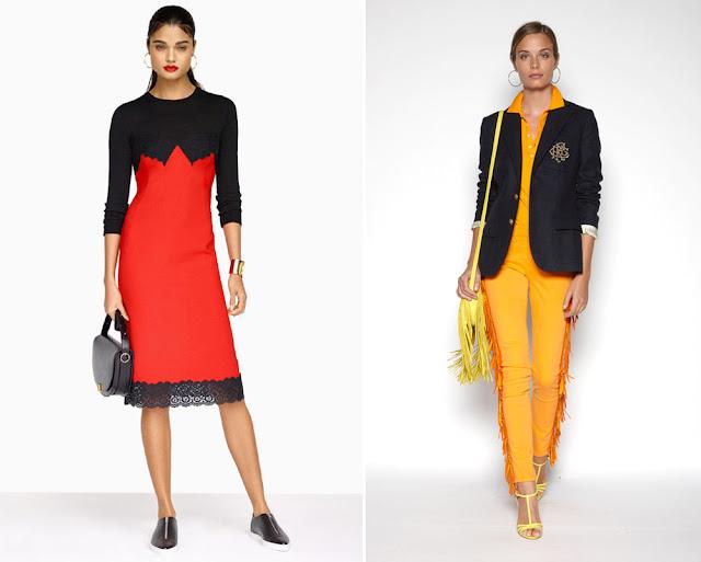 Красный и желтый с черным в одежде
