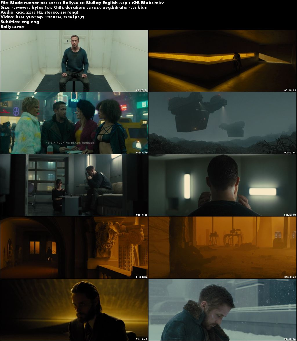 Blade runner 2049 (2017) BluRay 450MB Full English Movie Download 480p
