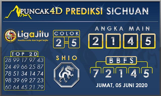 PREDIKSI TOGEL SICHUAN PUNCAK4D 05 JUNI 2020