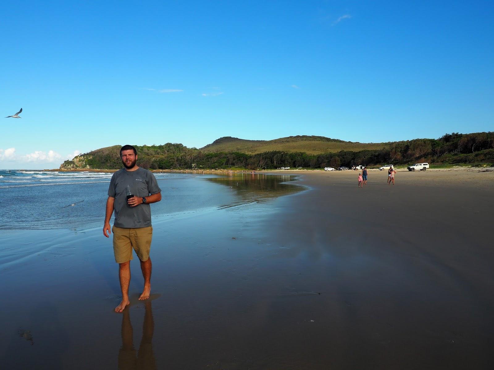 Male walking on Diamond Head Beach