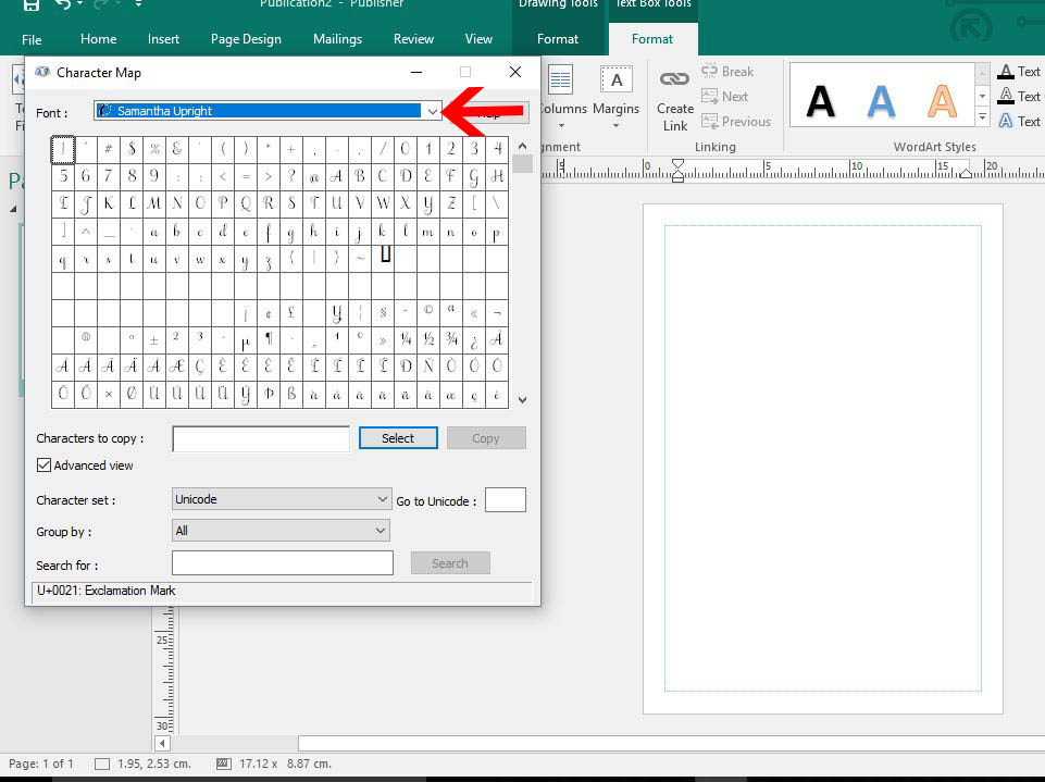 How to Use Fonts and Glyphs in Microsoft Publisher | Design