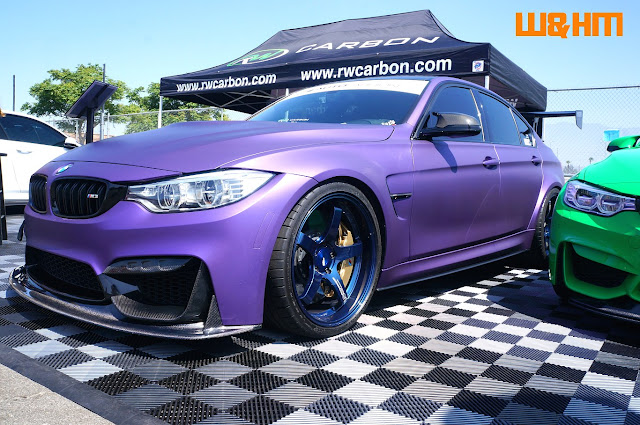 RW Carbon's purple BMW show car at bimmerfest 2017