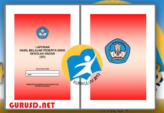 Contoh Raport K13 SD Edisi Revisi di lengkapi Petunjuk Pengisian