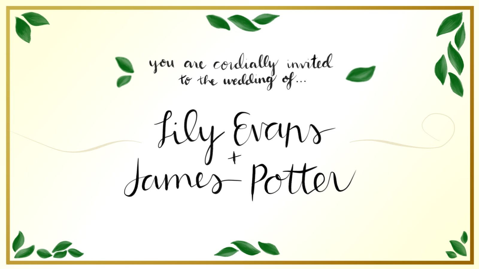 James Potter and Lily Evans Wedding Fan Film