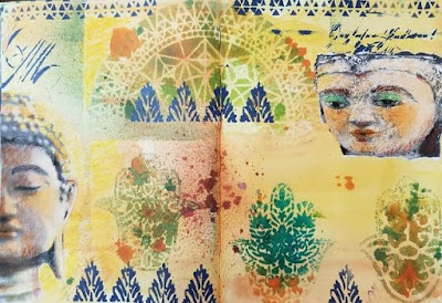Lesta Frank: Art Journaling with StencilGirl® Stencils