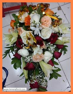 bunga bouqet pengantin jakarta timur
