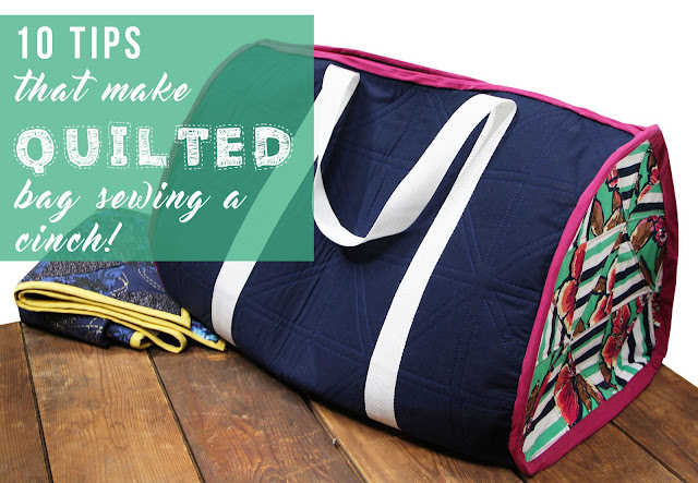 10 Tips That Make Quilted Bag Sewing a Cinch