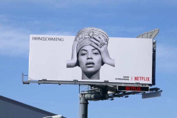 Beyoncé Homecoming Netflix billboard