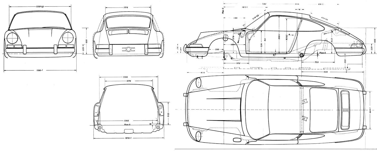 Sketchbook historic cars : Costruiamo una 911 del 1967