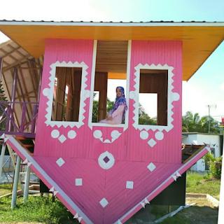 rumah terbalik wisata agro nadin sei pinang bangkinang kab kampar yang terdapat di riau pekanbaru