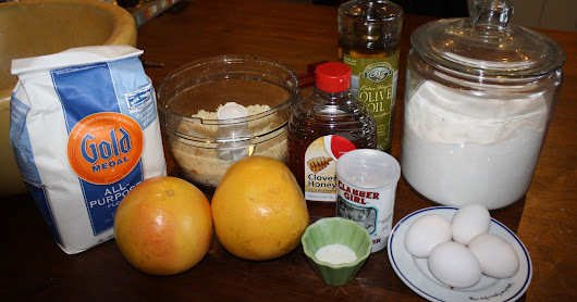 Recipe #2 Mario Batali's Grapefruit and Honey cake