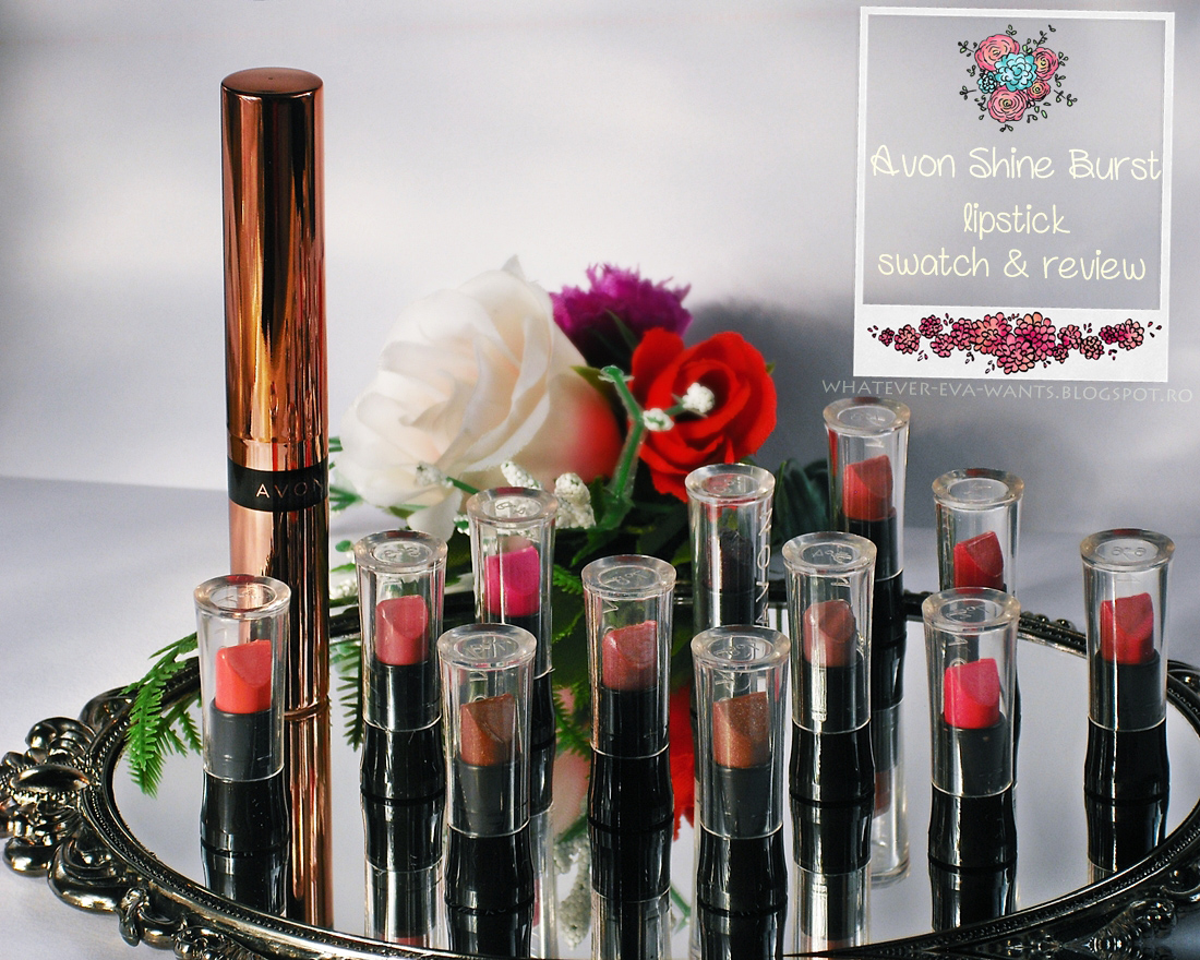 Avon Shine Burst Lipstick Review And Swatch Evelena Stories In Bloom