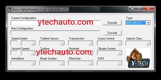 IVECO Alphanumeric Code Calculator v0 1 - Y-TECHAUTO
